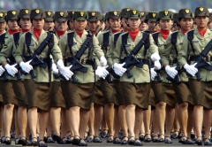 Indonesian Army women march during the r