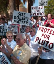 protest for pluto